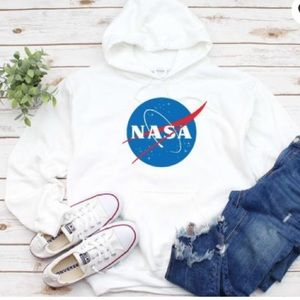 NASA White Soft Hoodie